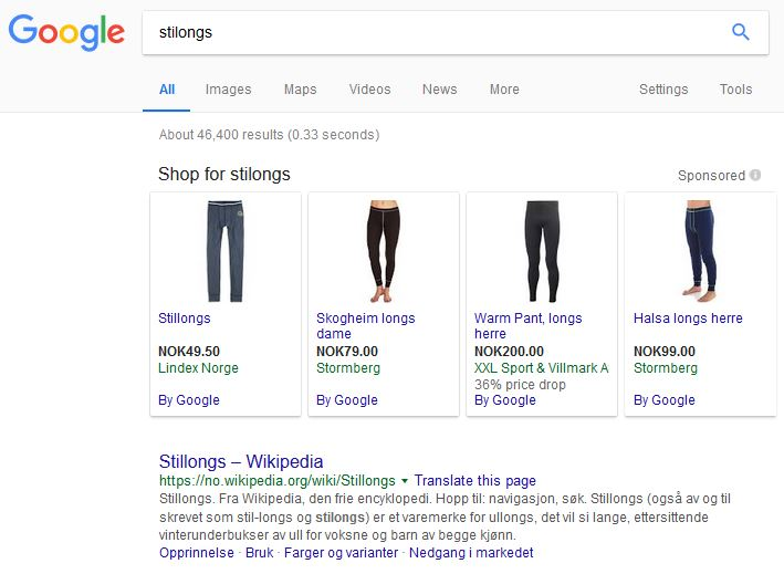 SERP Google stilongs - stillongs